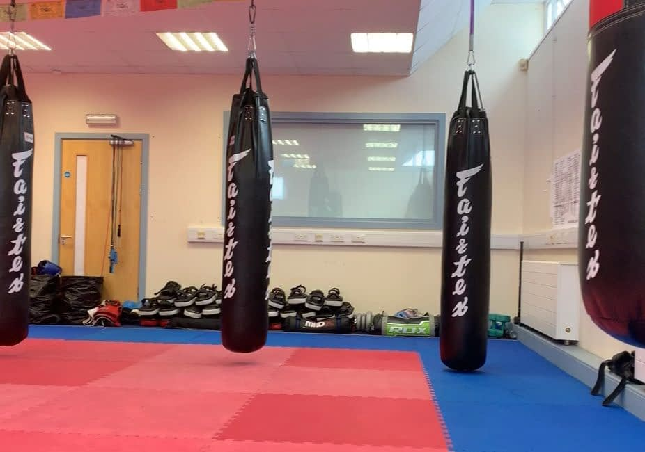 wakt muay thai gym fairtex kick punch bags
