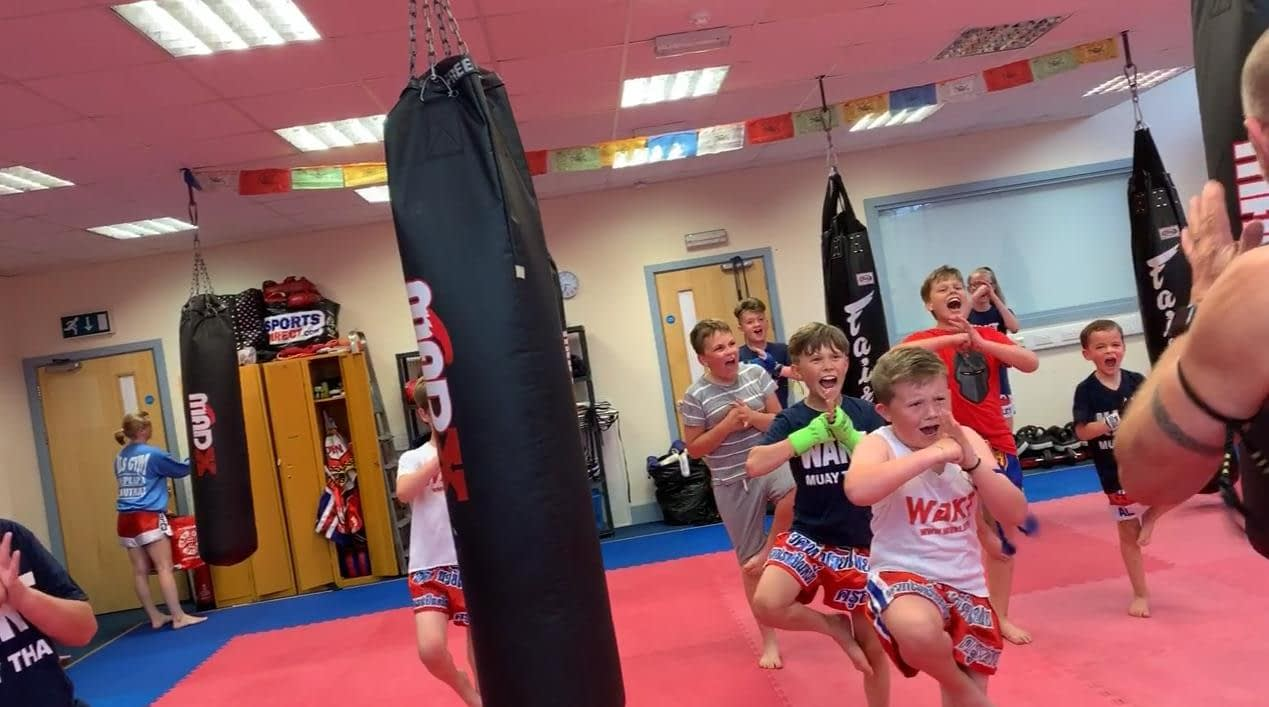 wakt thai boxing kids bag smash