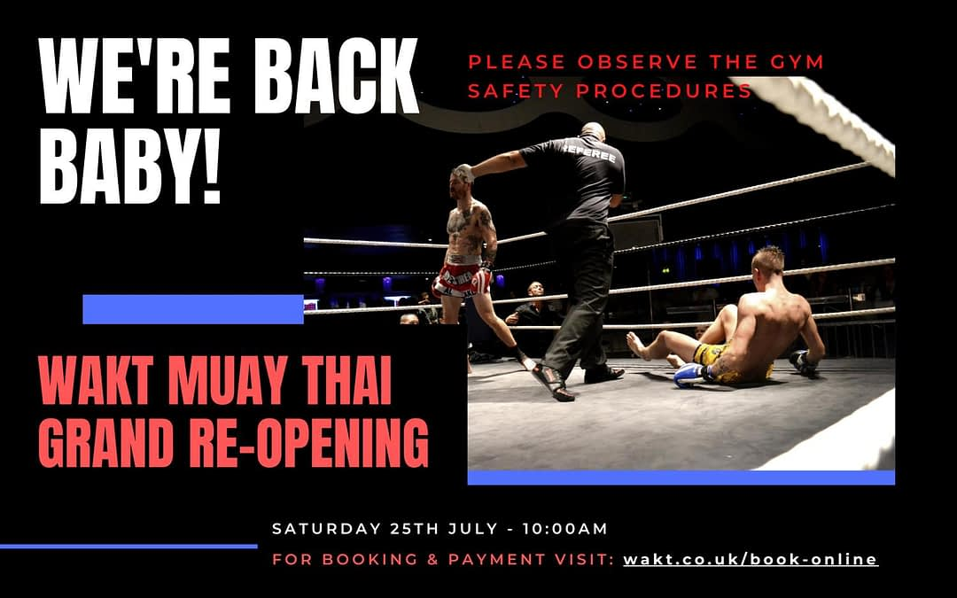 wakt thai boxing reopen safety