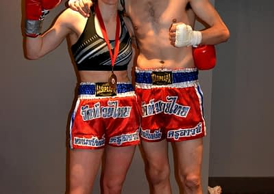 wakt male and female fighters thai boxing